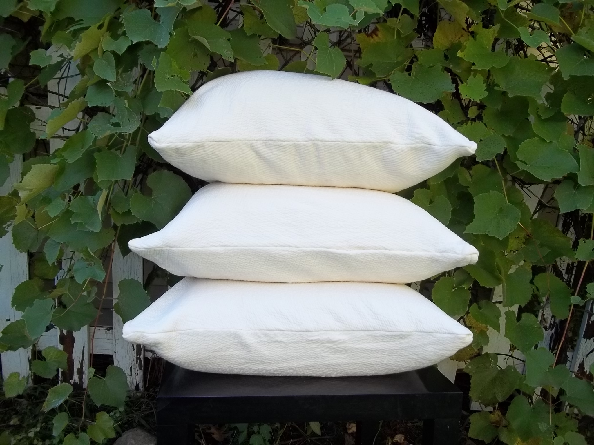 Kapok And Wool Pillow Stack