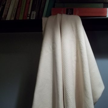 Double Knit GOTS Organic Cotton Fabric Hanging Books