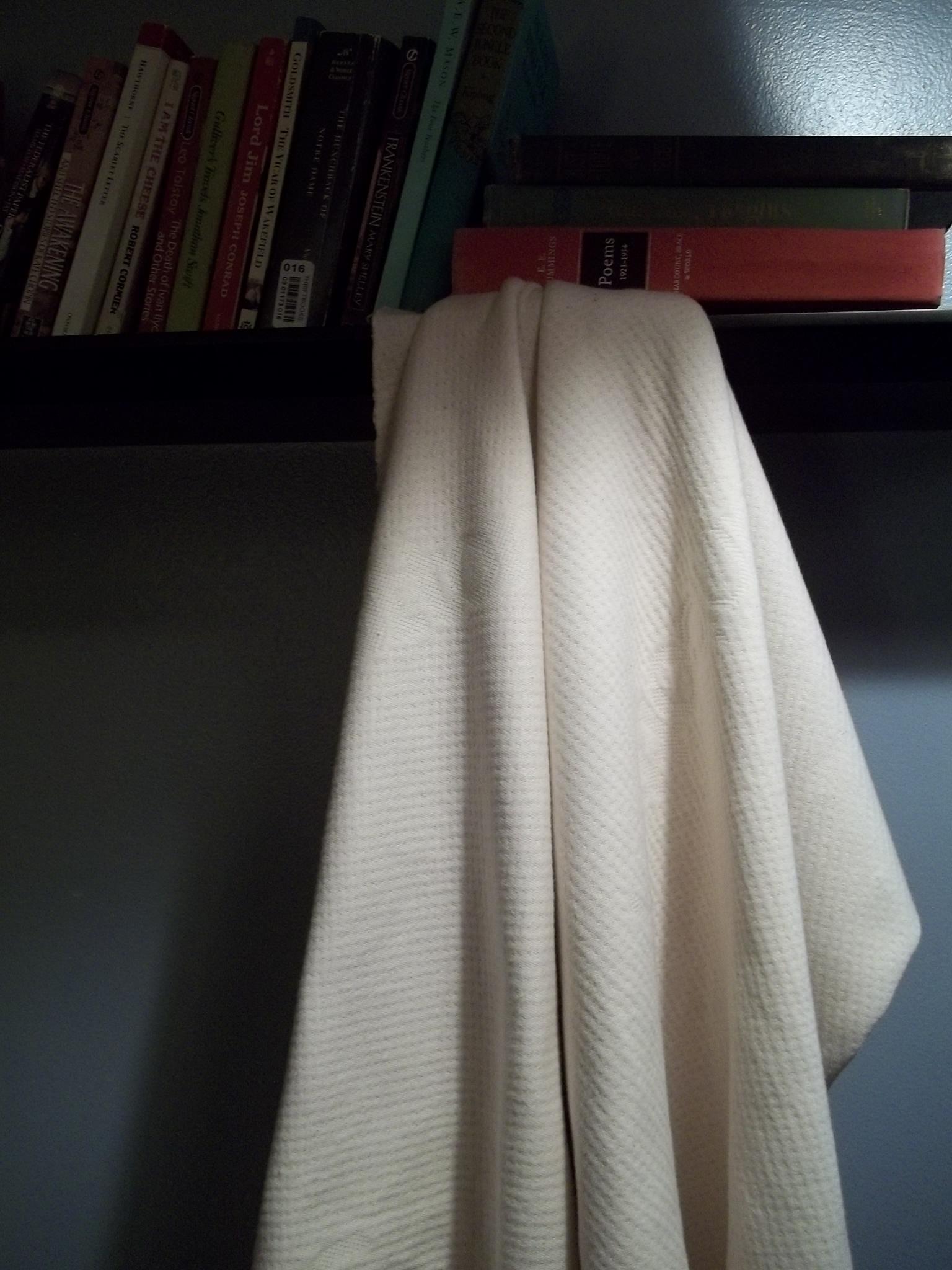 6340b918737 Double Knit GOTS Organic Cotton Fabric Hanging Books