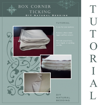 Box Corner Ticking Sewing Tutorial