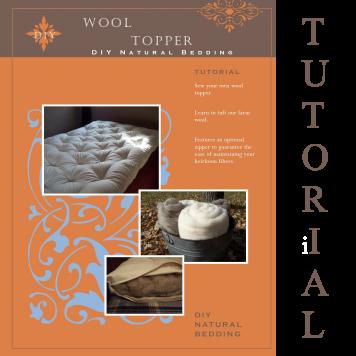 Wool Topper Tutorial