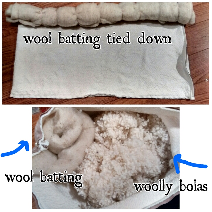 DIY, wool, neck roll pillow