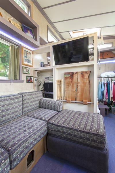 custom latex couch in a custom made house