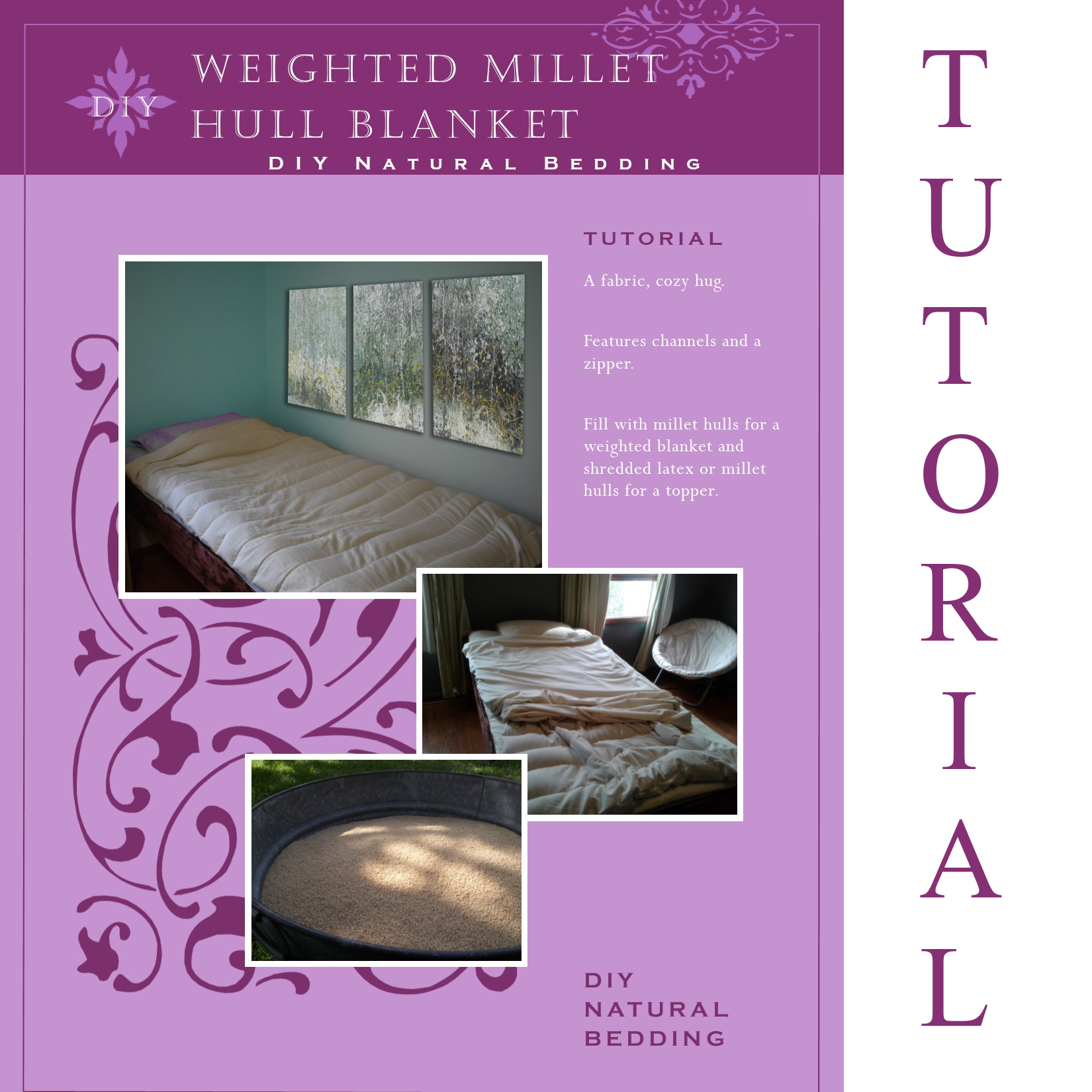 Millet Hull Weighted Blanket Tutorial